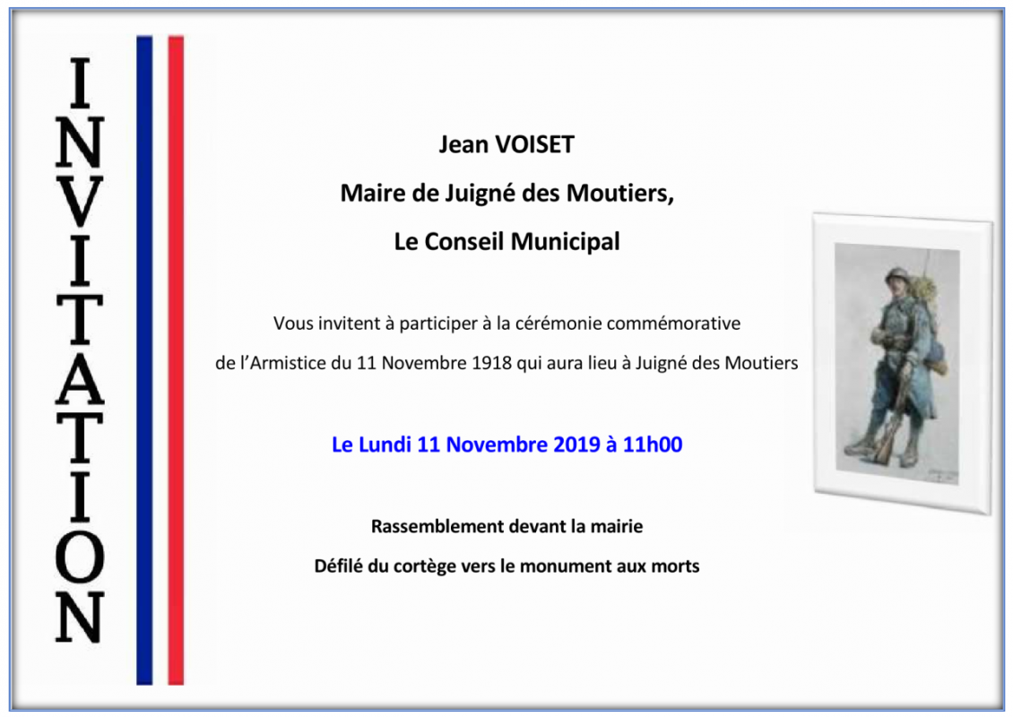 Commemoration 11 novembre 2019