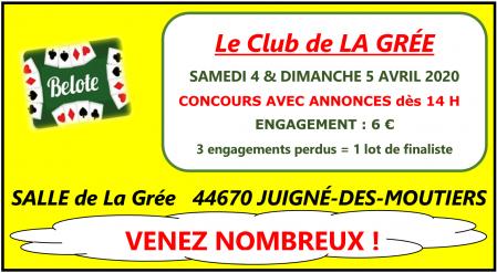 Concours La Grée Avril 2020