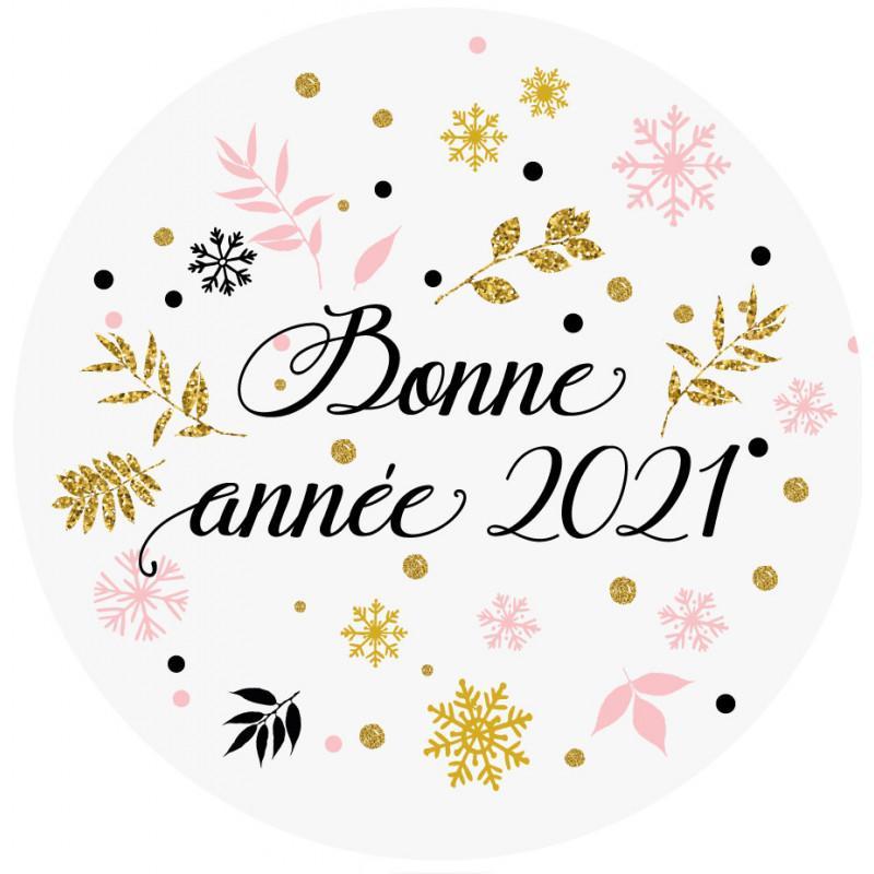 Sticker bonne annee 2021